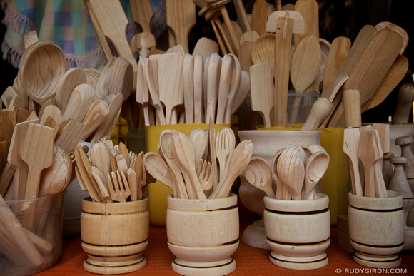 Rudy Giron: AntiguaDailyPhoto.com &emdash; Wooden Kitchen Utensils from Guatemala