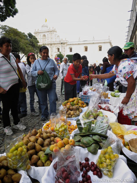 Rudy Giron: AntiguaDailyPhoto.com &emdash; Selling Fresh Fruits for Corpus Christi Celebrations in Antigua Guatemala