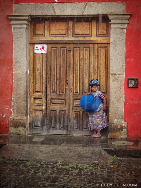 Rudy Giron: AntiguaDailyPhoto.com &emdash; It's Raining in Antigua Guatemala