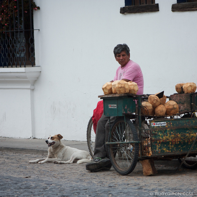 Rudy Giron: Instagrams &emdash; Fresh Coconut Water Stall in Antigua Guatemala