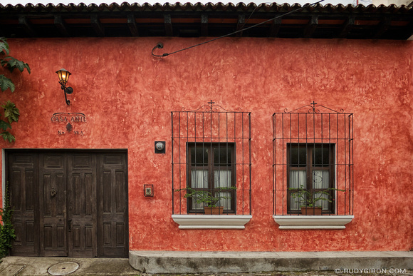 Rudy Giron: AntiguaDailyPhoto.com &emdash; Typical Façade of a Modern Antigua House