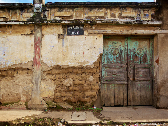 Rudy Giron: AntiguaDailyPhoto.com &emdash; Old house façade in Antigua Guatemala