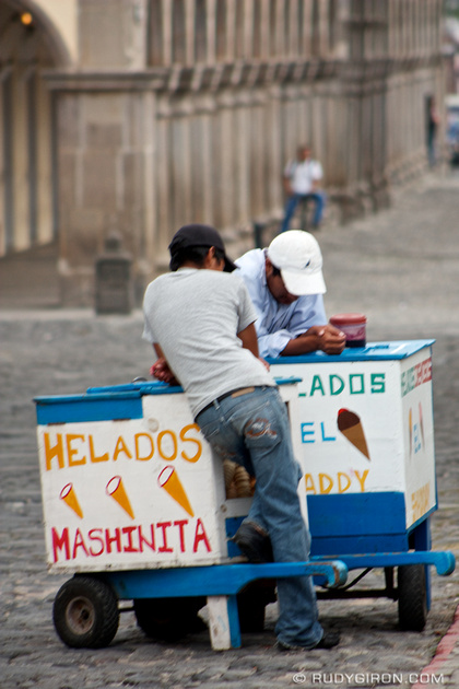Rudy Giron: AntiguaDailyPhoto.com &emdash; Ice Cream Carts from Antigua Guatemala