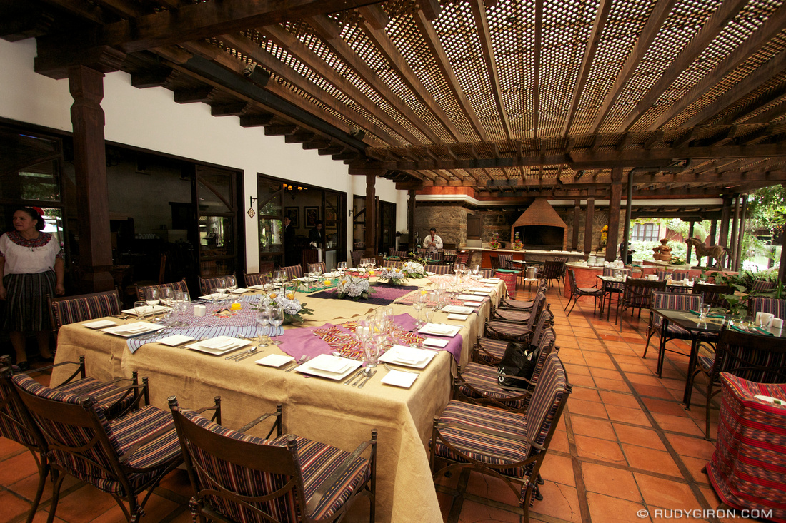 Rudy Giron: AntiguaDailyPhoto.com &emdash; Dining Area at Porta Hotel Antigua
