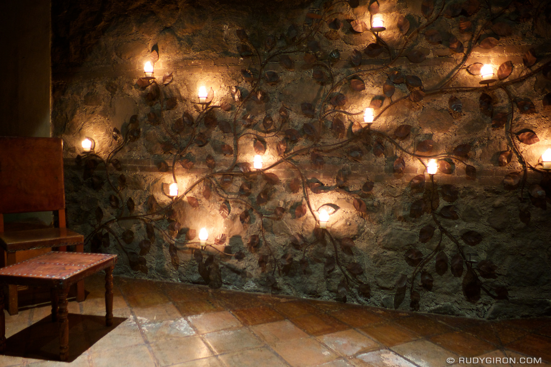 Ironwork For Walls Alluring Ironwork Candle Wall Holder At Night  Antiguadailyphoto Design Ideas