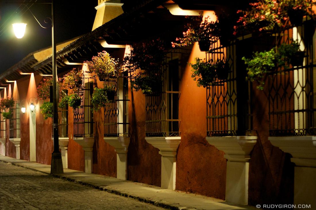 Rudy Giron: AntiguaDailyPhoto.com &emdash; Typical night vista of Antigua Guatemala