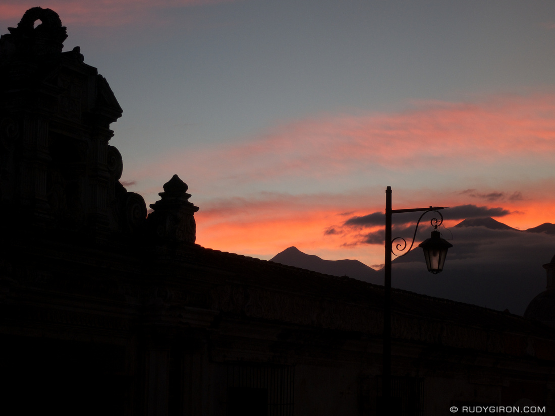 Rudy Giron: AntiguaDailyPhoto.com &emdash; Colorful Sunset from Antigua Guatemala