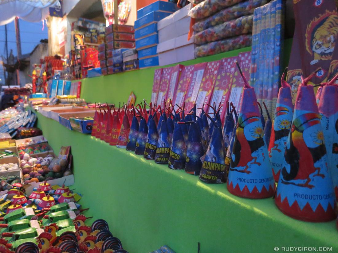 Rudy Giron: AntiguaDailyPhoto.com &emdash; Christmas Fireworks Street Shop