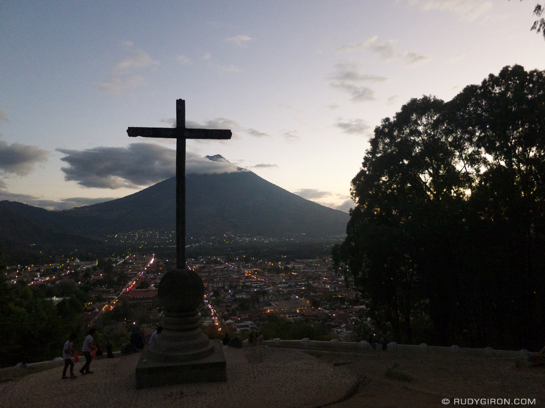 Rudy Giron: AntiguaDailyPhoto.com &emdash; Cerro de la Cruz in Antigua Guatemala