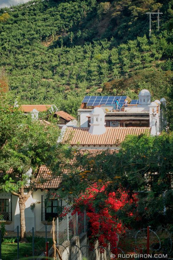 Rudy Giron: AntiguaDailyPhoto.com &emdash; Solar Panels in Colonial Antigua Guatemala