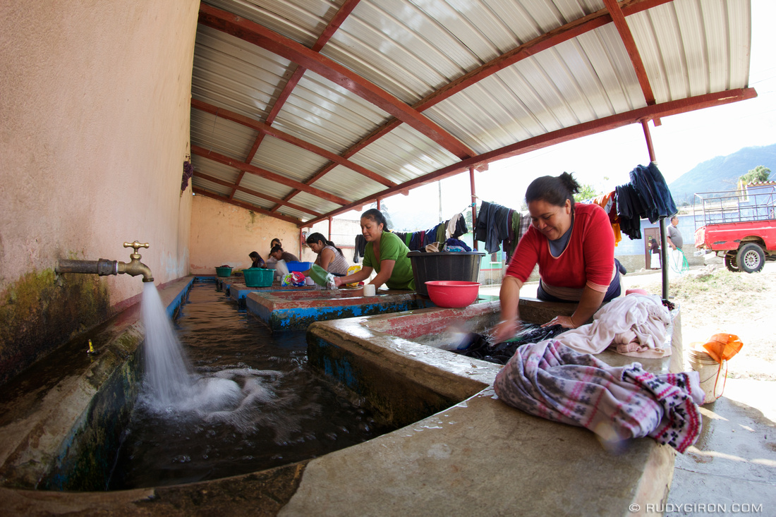 Public Washbasins Are the Social Media Networks For Many Villagers in Guatemala
