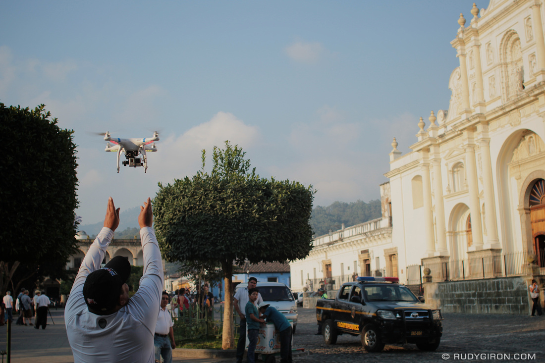 Rudy Giron: AntiguaDailyPhoto.com &emdash; Filming Antigua Guatemala from Above