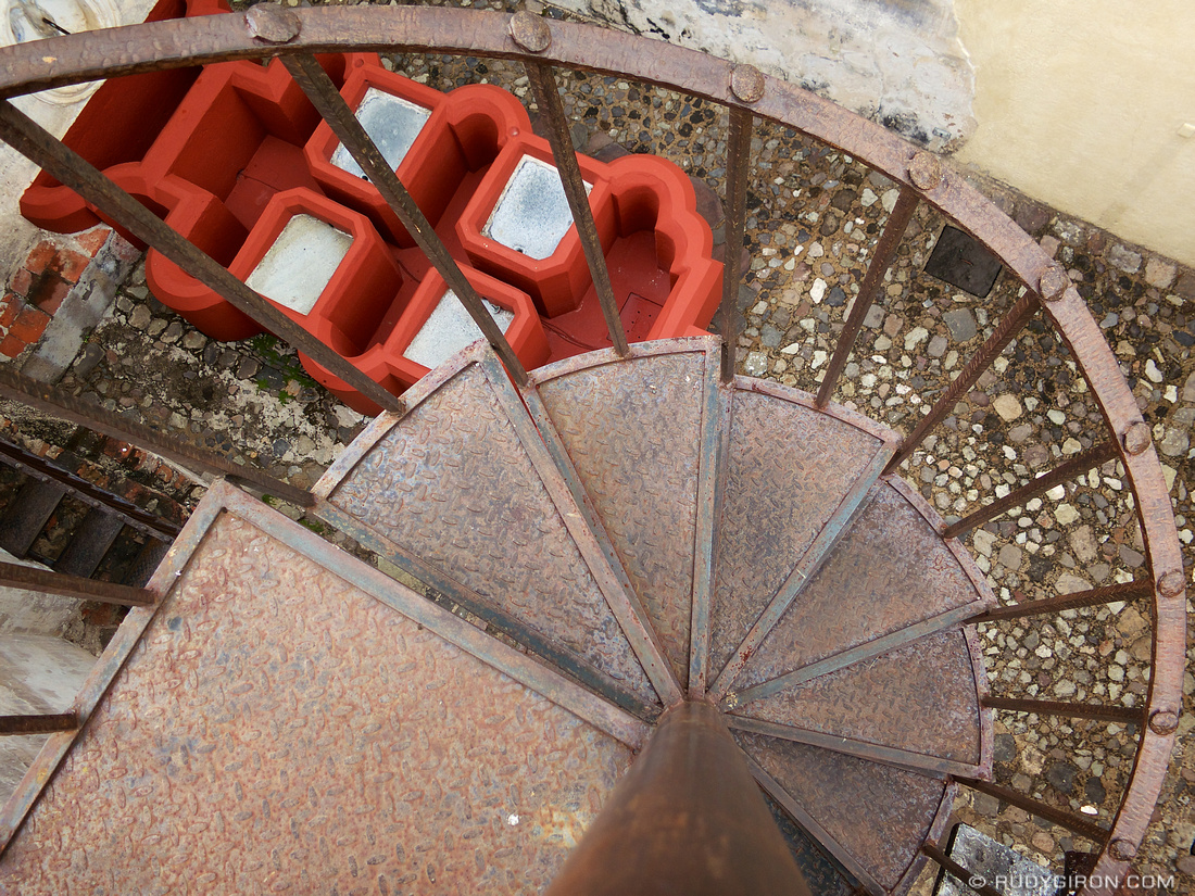 Rudy Giron: AntiguaDailyPhoto.com &emdash; Spiral Staircase at Casa Herrera in Antigua Guatemala