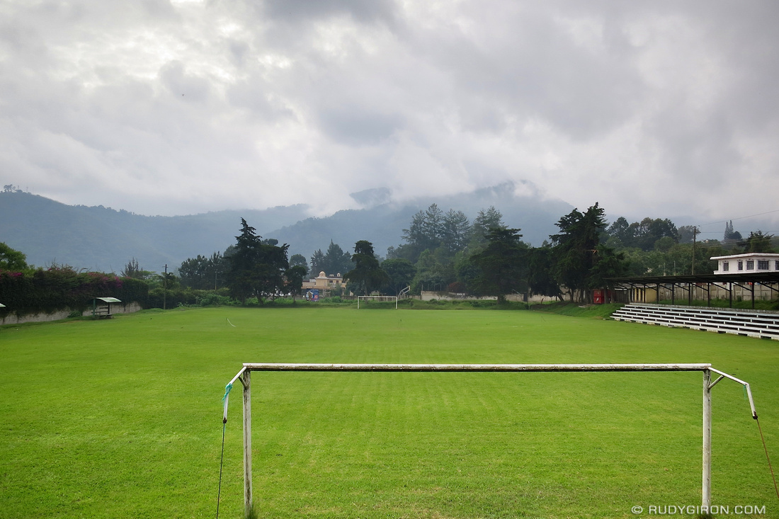Rudy Giron: Antigua Guatemala &emdash; Rainy Season Vista: The Football Field