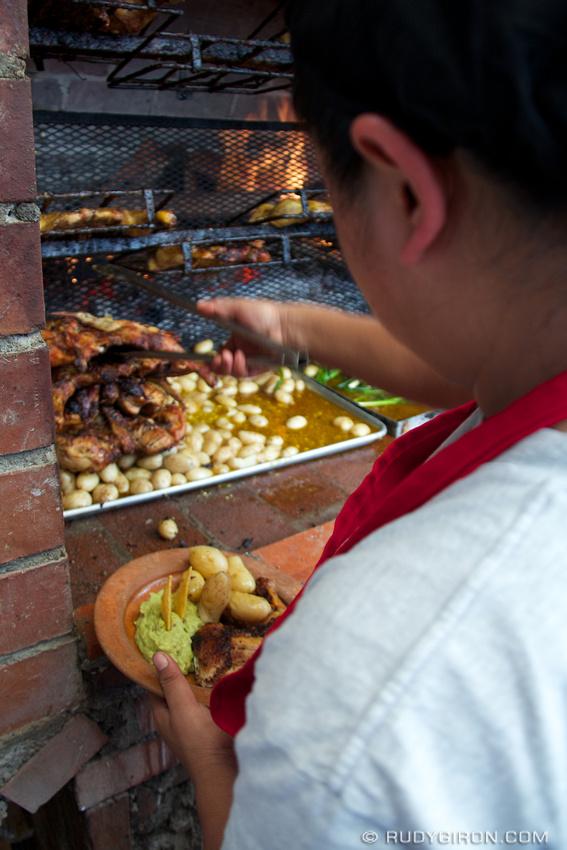 Rudy Giron: Antigua Guatemala &emdash; Charbroiled Chicken Lunch