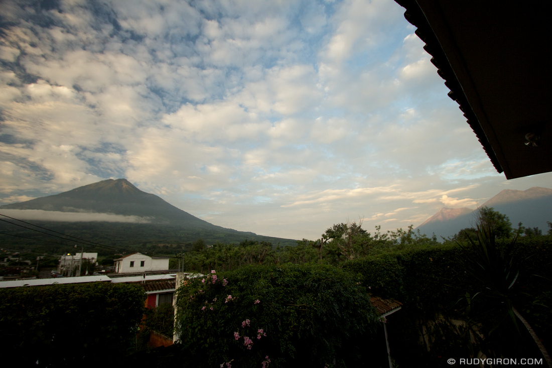 Rudy Giron: Antigua Guatemala &emdash; Sunrise at the first day of Summer