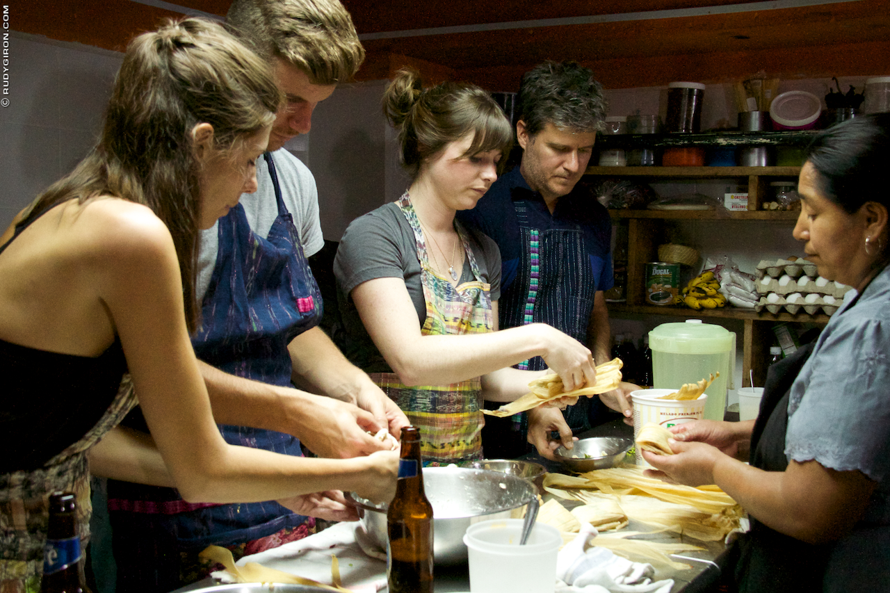Learning to cook Guatemalan food at El Frijol Feliz in Antigua Guatemala image by Rudy Giron + http://photos.rudygiron.com