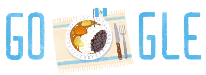 Google's doodle to celebrate Guatemala's Independence Day 2014