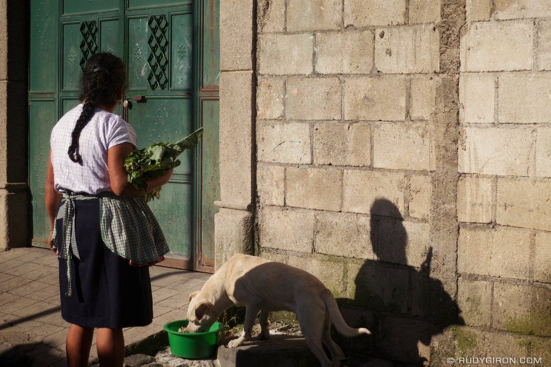Rudy Giron: Antigua Guatemala &emdash; Acts of Kindness: Feeding the Chuchos