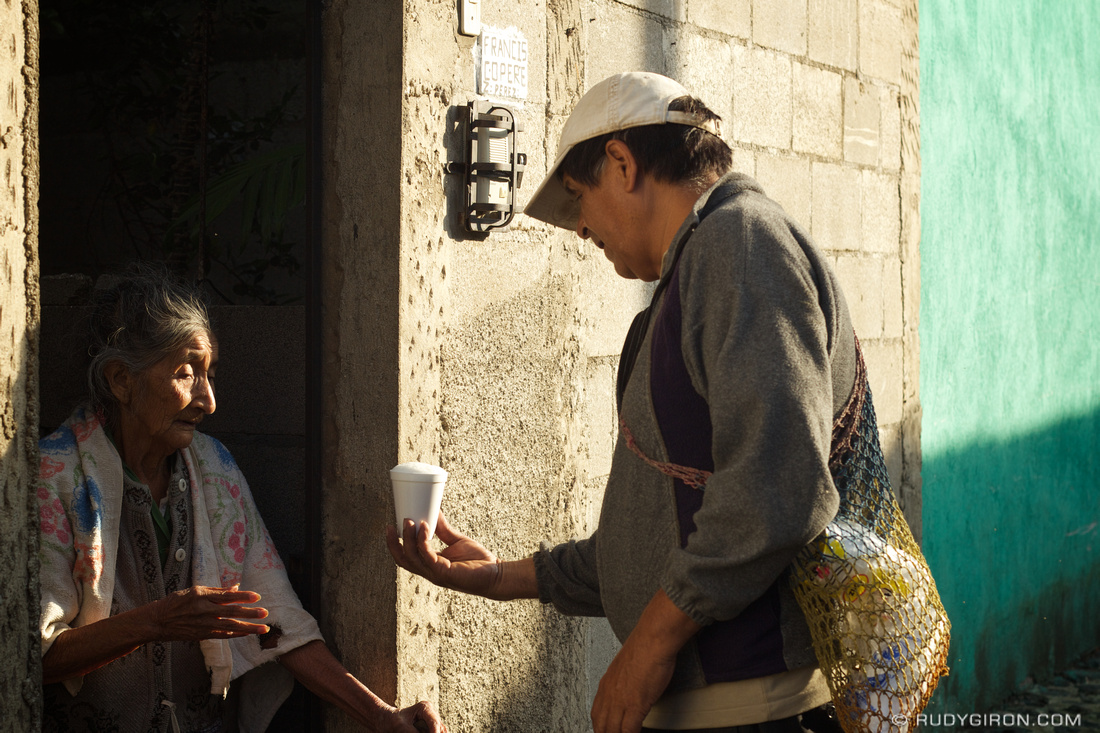 Rudy Giron: Antigua Guatemala &emdash; Acts of Kindness: Free Milk for Granny