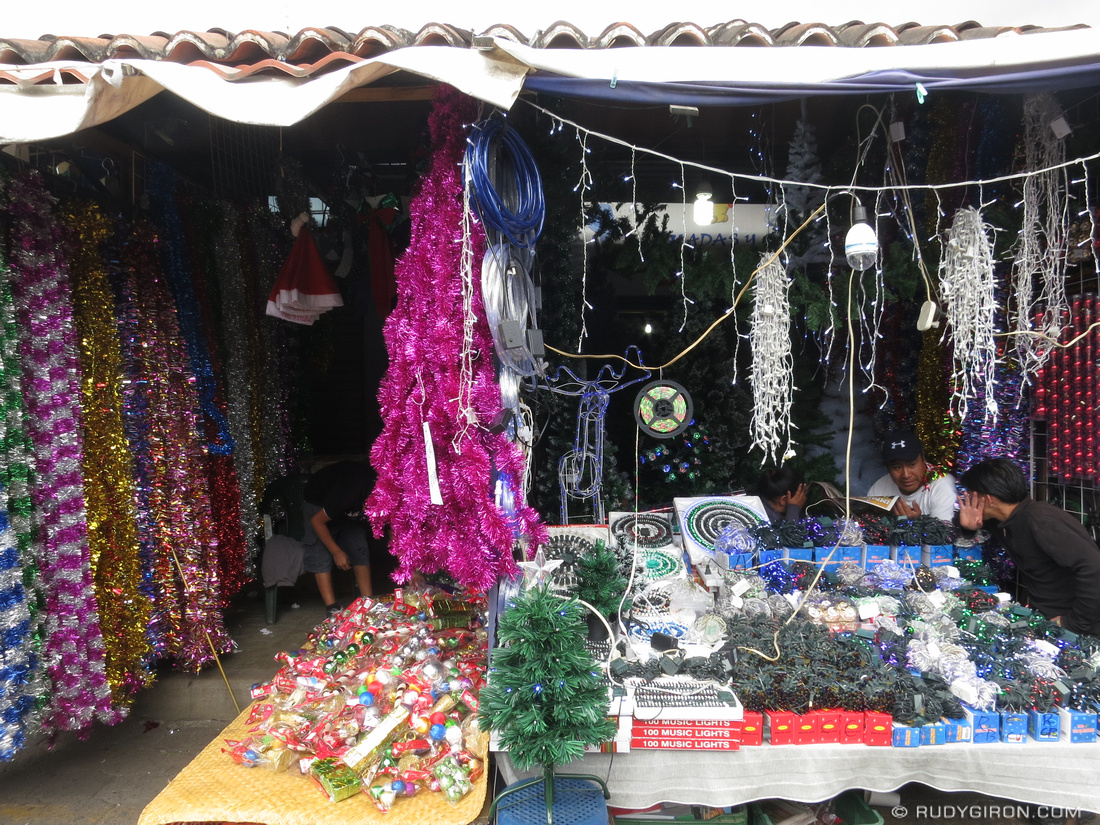 Rudy Giron: Antigua Guatemala &emdash; Christmas Decorations Booth at El Mercado