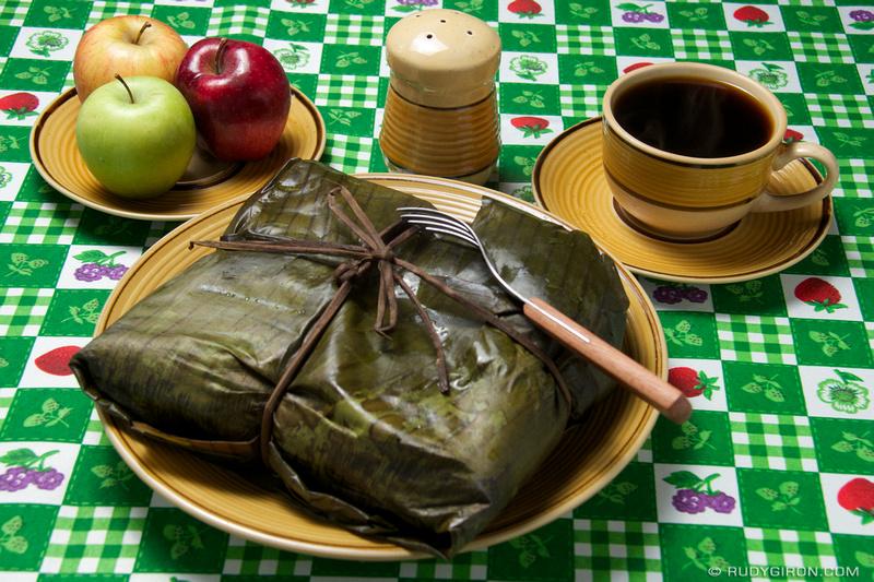 Rudy Giron: Guatemalan tamales &emdash; Giant Tamal from Guatemala