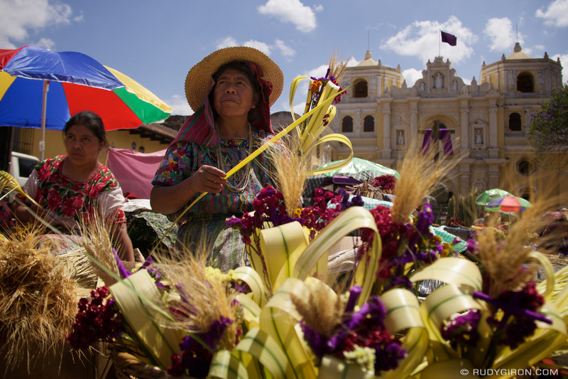 Rudy Giron: Antigua Guatemala &emdash; Palm Sunday in Antigua Guatemala © Rudy Giron