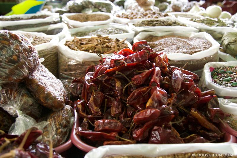 Rudy Giron: Antigua Guatemala &emdash; Guatemalan Spices and Chiles at Mercado Central