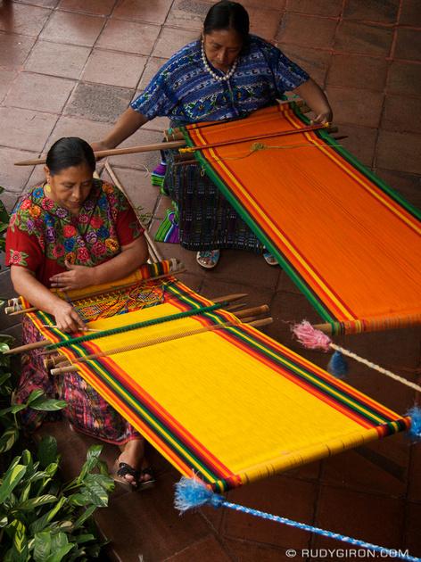Rudy Giron: Antigua Guatemala &emdash; Mayan Weavers at Work, Antigua Guatemala