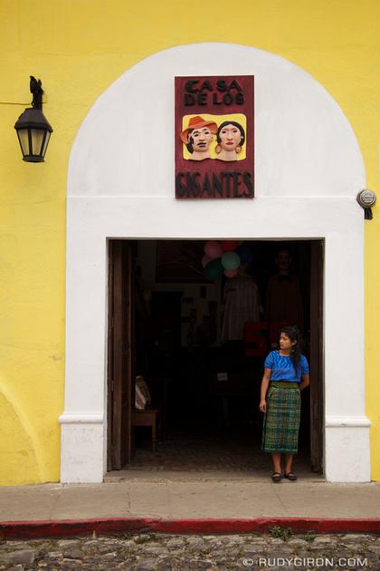 Rudy Giron: Antigua Guatemala &emdash; Façade at Casa de los Gigantes