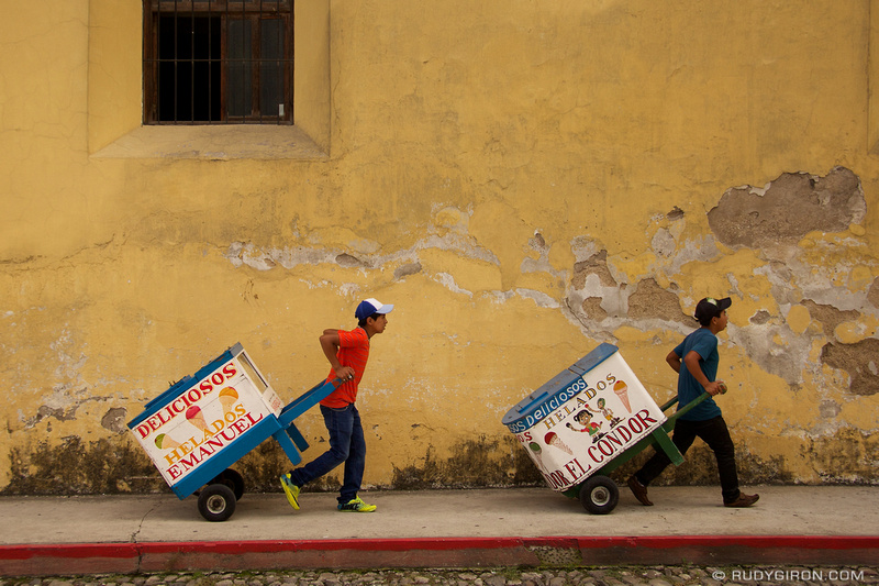Rudy Giron: Antigua Guatemala &emdash; Traditional Guatemalan Ice Cream Carts