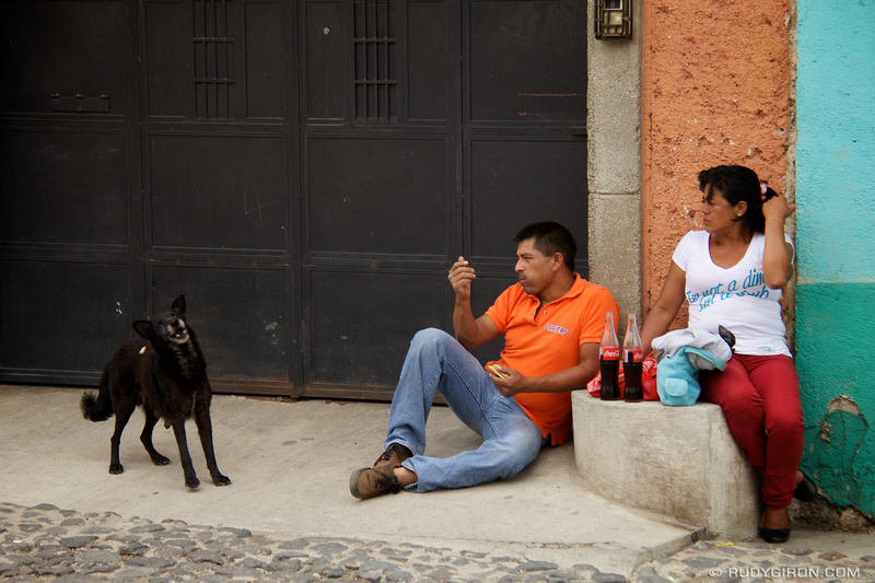 Rudy Giron: Antigua Guatemala &emdash; Lunch Time on the Streets