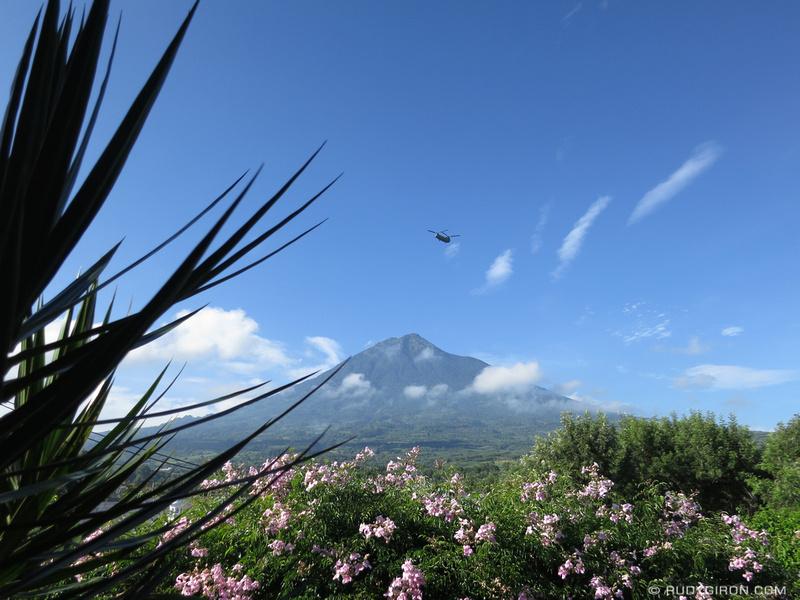 Rudy Giron: Antigua Guatemala &emdash; Chinook Helicopter Over La Antigua Guatemala