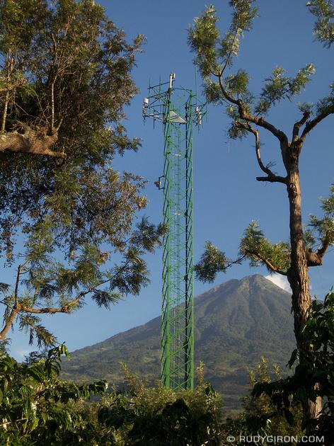 Rudy Giron: Antigua Guatemala &emdash; Celular Towers Inside Coffee Plantations