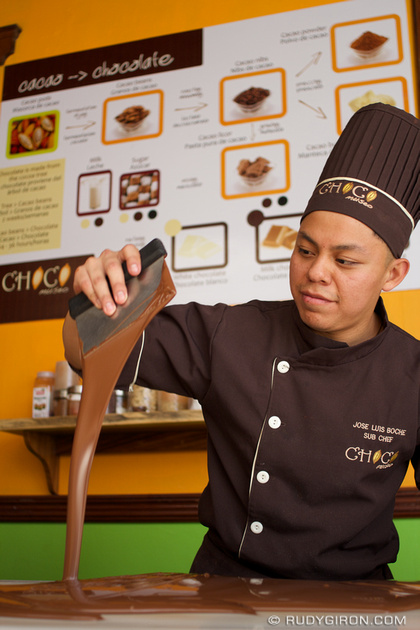 Rudy Giron: Antigua Guatemala &emdash; Milk chocolate preparation at Choco Museo