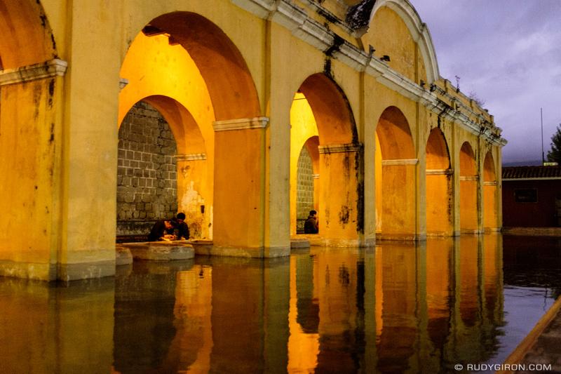 Rudy Giron: Antigua Guatemala &emdash; Blue Hour at Tanque de La Unión