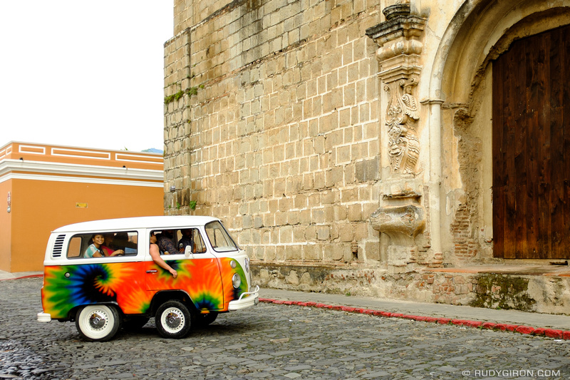 Rudy Giron: Antigua Guatemala &emdash; VW Kombi Mini Van in Antigua Guatemala