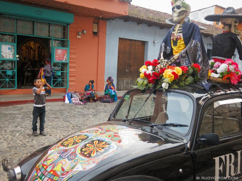 Rudy Giron: Antigua Guatemala &emdash; Surrealistic Vista of Daily Life on Calle del Arco
