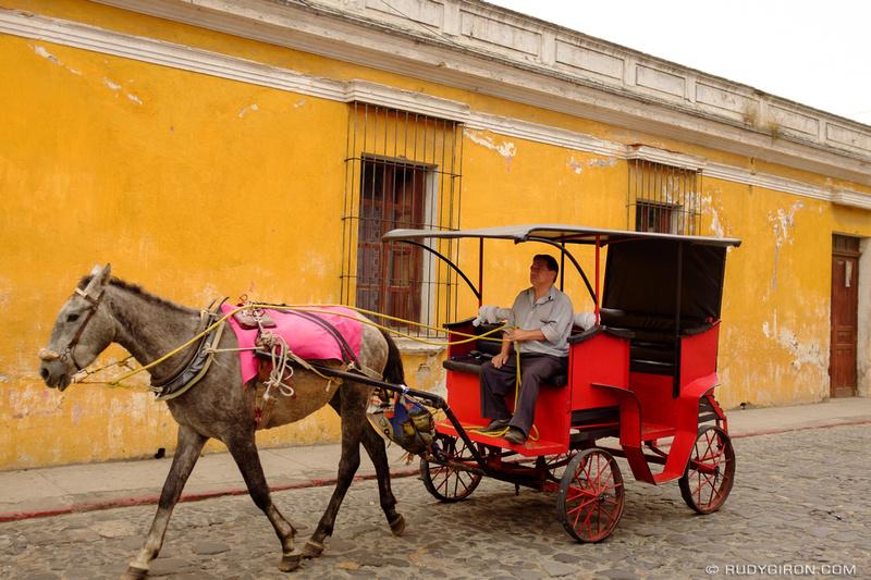 Rudy Giron: Antigua Guatemala &emdash; Horse Carriages in Antigua Guatemala