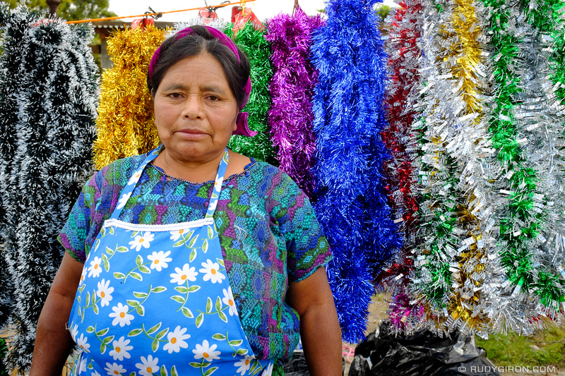Rudy Giron: Antigua Guatemala &emdash; Portrait of a Christmas Decorations Vendor