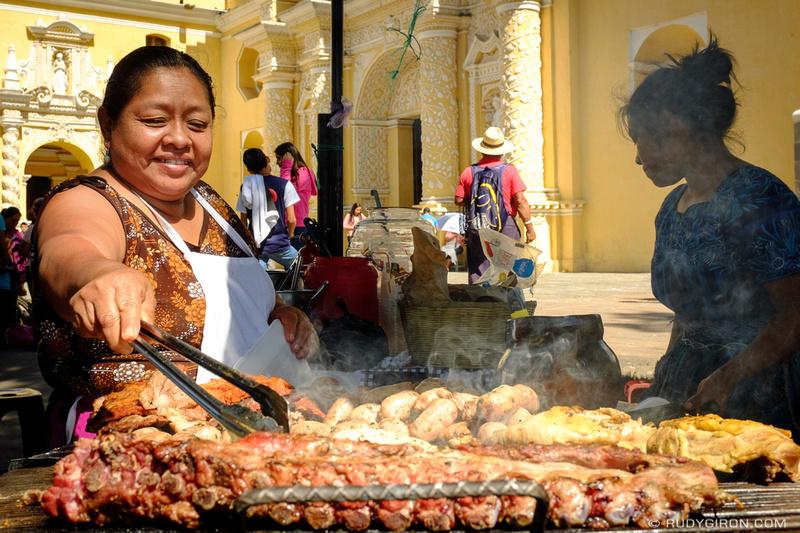 Rudy Giron: Antigua Guatemala &emdash; Street Foods — Charbroiled Meats