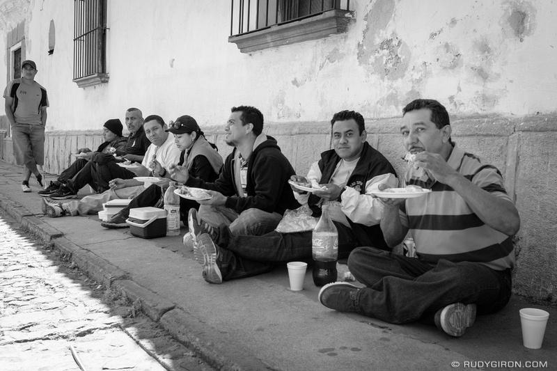 Rudy Giron: Antigua Guatemala &emdash; It's lunch time on the streets of La Antigua Guatemala