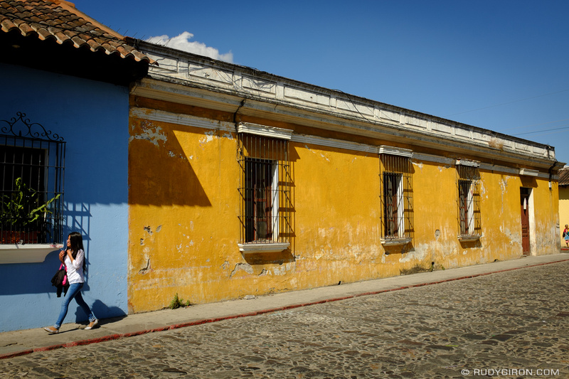 Rudy Giron: Antigua Guatemala &emdash; Antigua Guatemala Colors- Amarillo and Celeste Colonial