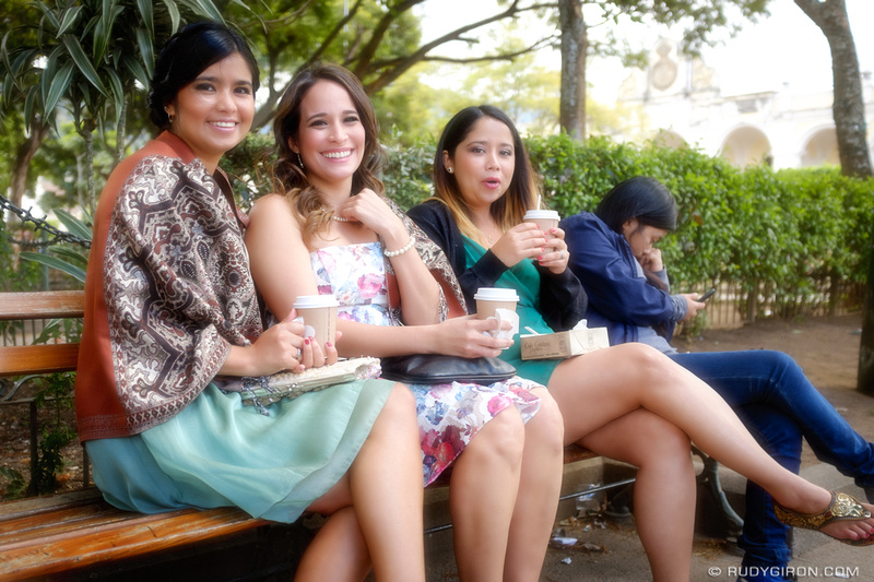 Rudy Giron: Antigua Guatemala &emdash; Hanging out with friends at Parque Central