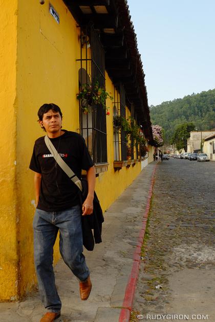 Rudy Giron: Antigua Guatemala &emdash; Narrow Sidewalks in Antigua Guatemala