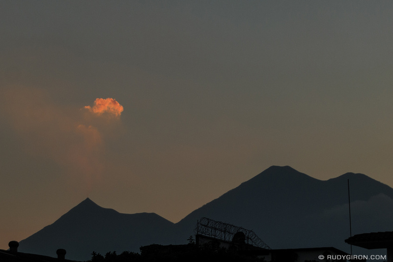 Rudy Giron: Antigua Guatemala &emdash; The Pointy Crater of Fuego Volcano