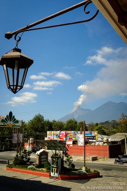 Rudy Giron: Antigua Guatemala &emdash; Framing Fuego's Eruptions