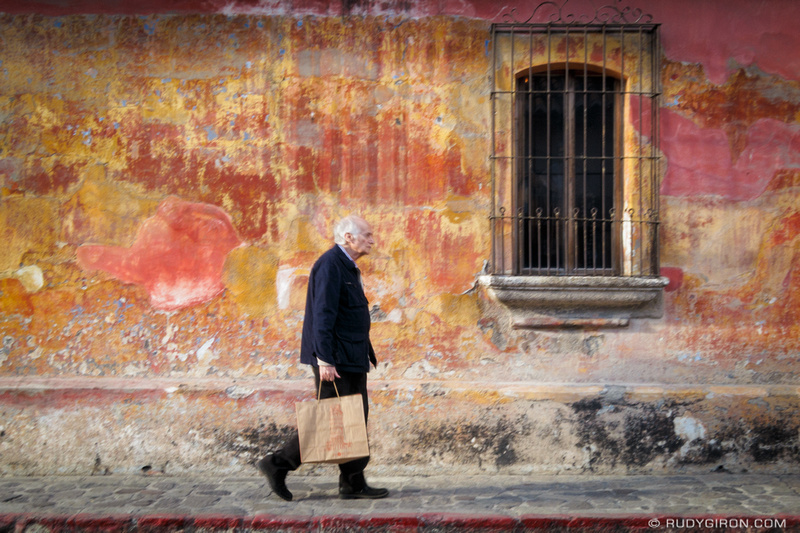 Rudy Giron: Antigua Guatemala &emdash; Colorful Textured Wall from Antigua Guatemala