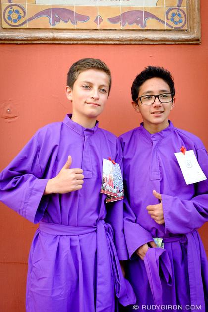 Rudy Giron: Antigua Guatemala &emdash; Young Cucuruchos in Antigua Guatemala