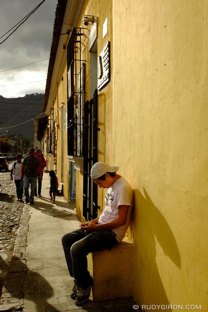 Rudy Giron: Antigua Guatemala &emdash; Narrow Sidewalks of Antigua Guatemala